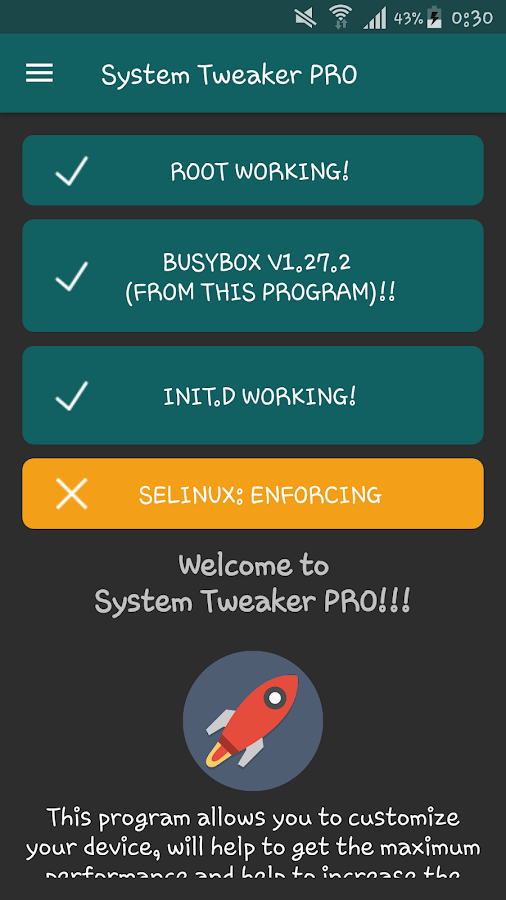 System Tweaker PRO [root] Screenshot 1