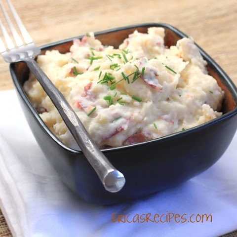 Cream Cheese Smashed Potatoes