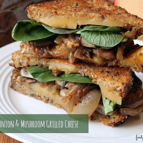 Caramelized Onion & Mushroom Grilled Cheese