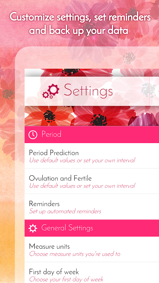 Period Calendar, Cycle Tracker Screenshot 4