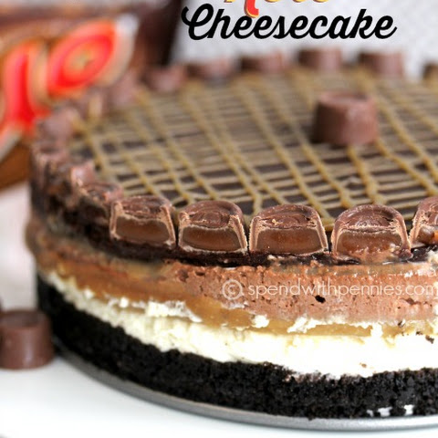 No Bake Rolo Cheesecake