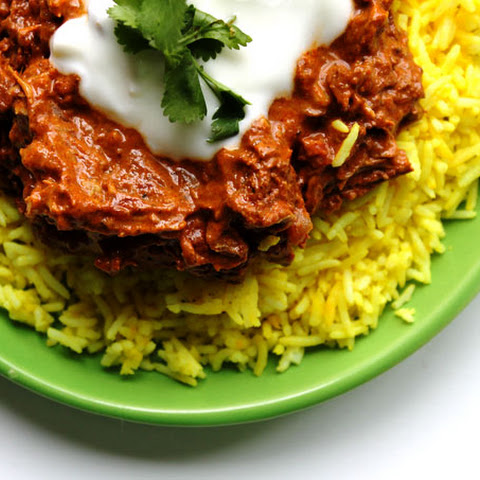 Spicy Chicken Curry With Lemon Ginger Rice And Garlic Yogurt