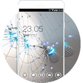 Spider Cool Neat Theme: Chrome Metal HD Wallpaper APK for iPhone