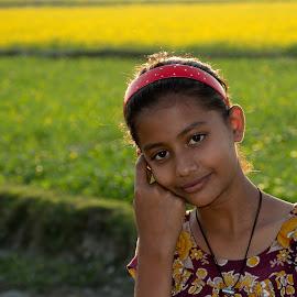 Smile  by Mahmudul Tapon - Babies & Children Child Portraits ( child, sunset, people, close up, portrait )