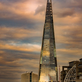 the shard by Balan Gratian - Buildings & Architecture Office Buildings & Hotels ( shard, hight buildings, london, the shard on golden hour, golden hour )