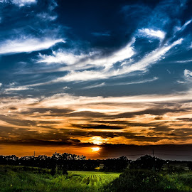 Wondrous Sunset  by Mike Hotovy - Landscapes Cloud Formations