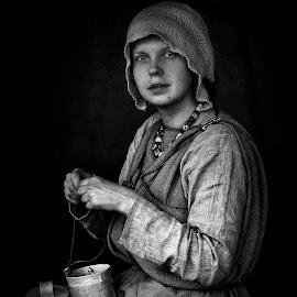 Celtic Woman by Roman Mordashev - People Portraits of Women ( celtic woman, black and white portrait, roman mordashev photogreaphy, portrait )