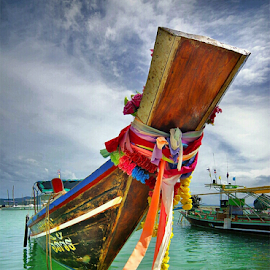 Thai boat by Sam Long Fee - Transportation Boats