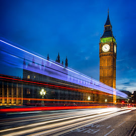 Big Ben at Night by Matt Shell - Buildings & Architecture Public & Historical ( parliament, england, london, long exposure, night, big ben )