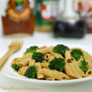 Broccoli Penne with Spicy Peanut Butter Sauce