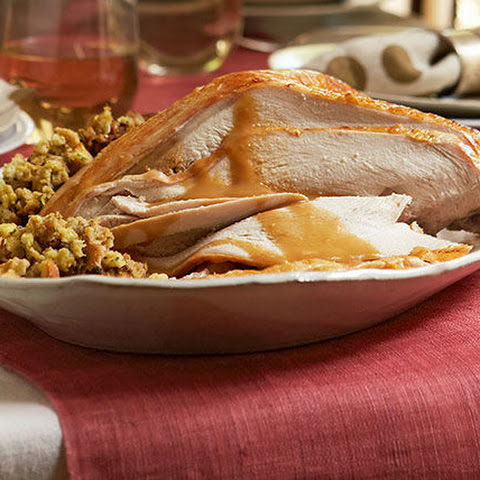 Turkey Breast with Stuffing and Gravy