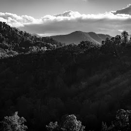Great Smoky Mountains by Mary Phelps - Black & White Landscapes ( gatlinburg, tennessee, smokies, black and white, great smoky mountains, canon )