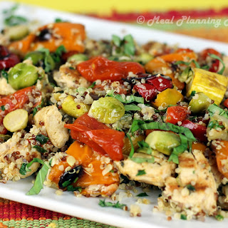 Chicken, Roasted Vegetables 'n Quinoa Toss