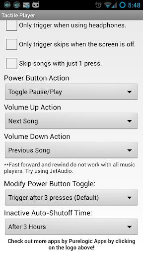 Tactile Player - Music Control - screenshot