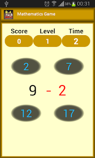 Mathematics Game - screenshot