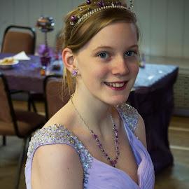 Bridesmaid by Lyndsay Hepburn - Wedding Other ( youngbridesmaid, beautifulyoungbridesmaid, bridesmaidinlilacdress, youngladyinlilacdressatwedding, headandshouldersbridesmaidshot )