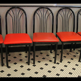 RED by Patti Westberry - Artistic Objects Furniture ( restaurant furniture, red, chairs, red chairs, diner )