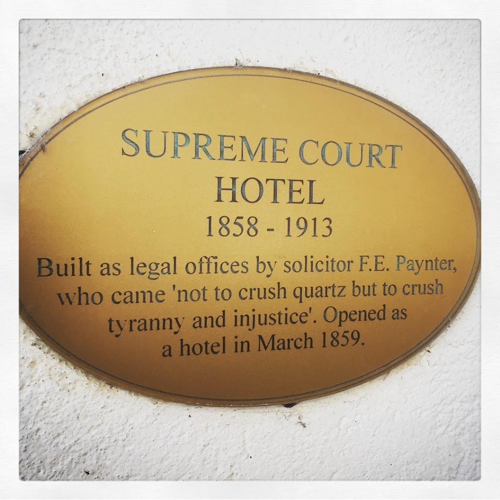 Built as legal offices by solicitor F.E. Paynter, who came 'not to crush quartz but to crush tyranny and injustice'. Opened as a hotel in March 1859. Submitted by@clean_pete.