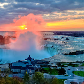 Good Morning Niagara.... by Ioannis Alexander - Landscapes Sunsets & Sunrises ( waterfall, clouds and mist, sunrise, river, mist )