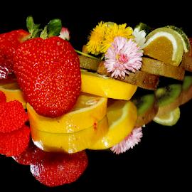 fruits with flower by LADOCKi Elvira - Food & Drink Fruits & Vegetables ( fruits )