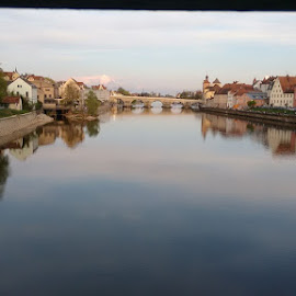 by Ranjani Seshadri - Instagram & Mobile Android ( regensburg, stone bridge, bridge, river )