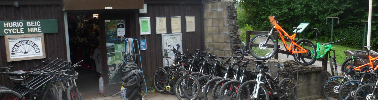 Afan Valley Bike Shed - to keep you riding!