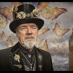 Father Time by Adrian Lines - People Portraits of Men ( senior citizen )