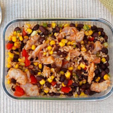Southwest Shrimp Black Bean Salad