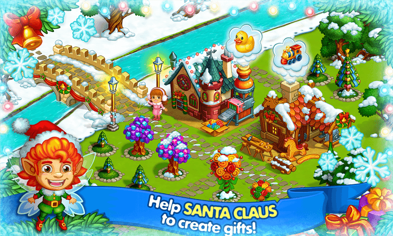 Farm Snow: Happy Christmas Story With Toys & Santa Screenshot 12