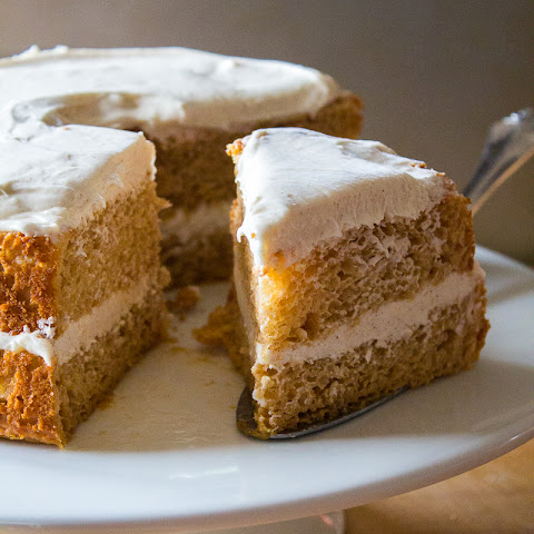 Pumpkin Angel Food Cake with Harvest Cream Cheese Frosting