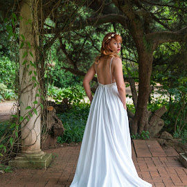 Bride by Giselle Hammond - Wedding Bride ( nature, wedding, wedding dress, white dress, beauty, bride, portrait )