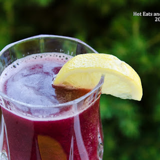 Sparkling Raspberry and Blackberry Lemonade