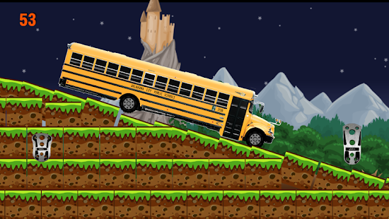 School Bus hill climb racing - screenshot
