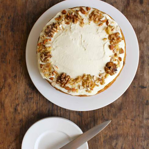 Banana Carrot Cake with Ricotta Honey Frosting