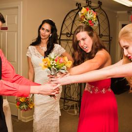 It's Mine! by Matthew Chambers - Wedding Other ( bridesmaids, wedding fight, bridal party, wedding, matthew chambers photography, humorous, bride )