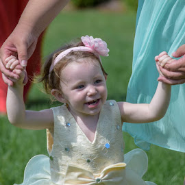 Girl at Wedding by Deborah Lucia - Babies & Children Children Candids ( dress, pink, walking, wedding, bow, child )