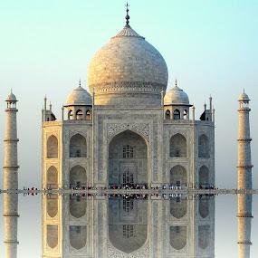 Taj Mahal by PINAKI MITRA - Buildings & Architecture Public & Historical ( shah jahan, marble, shah jehan, mausoleum, islamic, taj mahal, agra, india, uttar pradesh, architecture, mumtaz mahal, mughal,  )