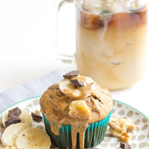 Almond Butter Banana Bread Muffins