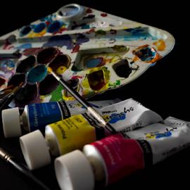 Artsy Fartsy by Grace Yap - Artistic Objects Other Objects ( artistic objects, art, acrylic, paint, colours,  )