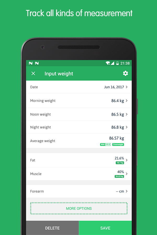 Weight Track Assistant - Free weight tracker Screenshot 2