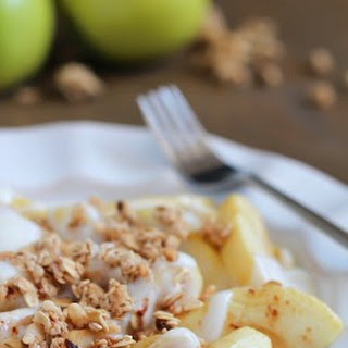 Baked Apples with Yogurt & Granola