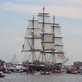 Sail Amsterdam by Anja Kroes - Transportation Boats ( sail, historische schepen, het ij, 5 jaar, amsterdam )