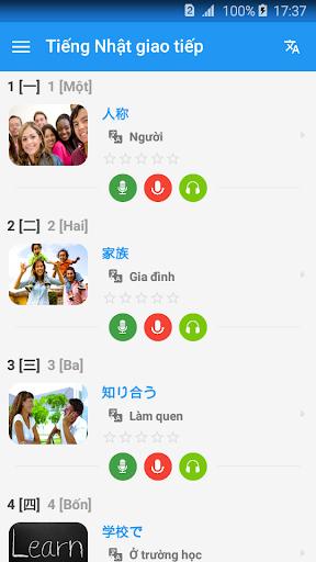 Học tiếng Nhật giao tiếp cho người Việt - Awabe screenshot 1