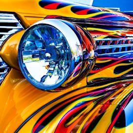 Hot Rod by Kevin Egan - Transportation Automobiles ( clifton car show, color, headlight, hot rod, close up, antique,  )