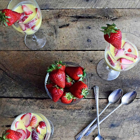 Strawberry Zabaione (naturally Gluten Free)