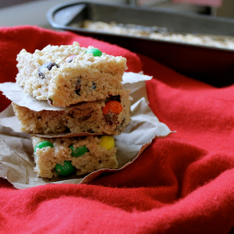 Peanut Butter M&M Rice Krispie Treats