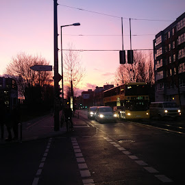 Berlin sunset  by Wei Jian Yip - City,  Street & Park  Street Scenes ( sunset, street, berlin )