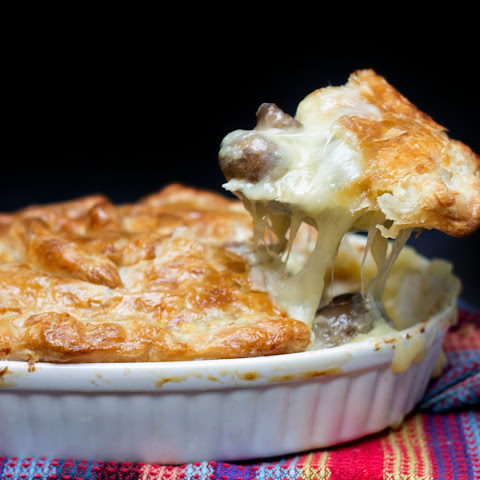 Cheesy Chicken & Mushroom Pie