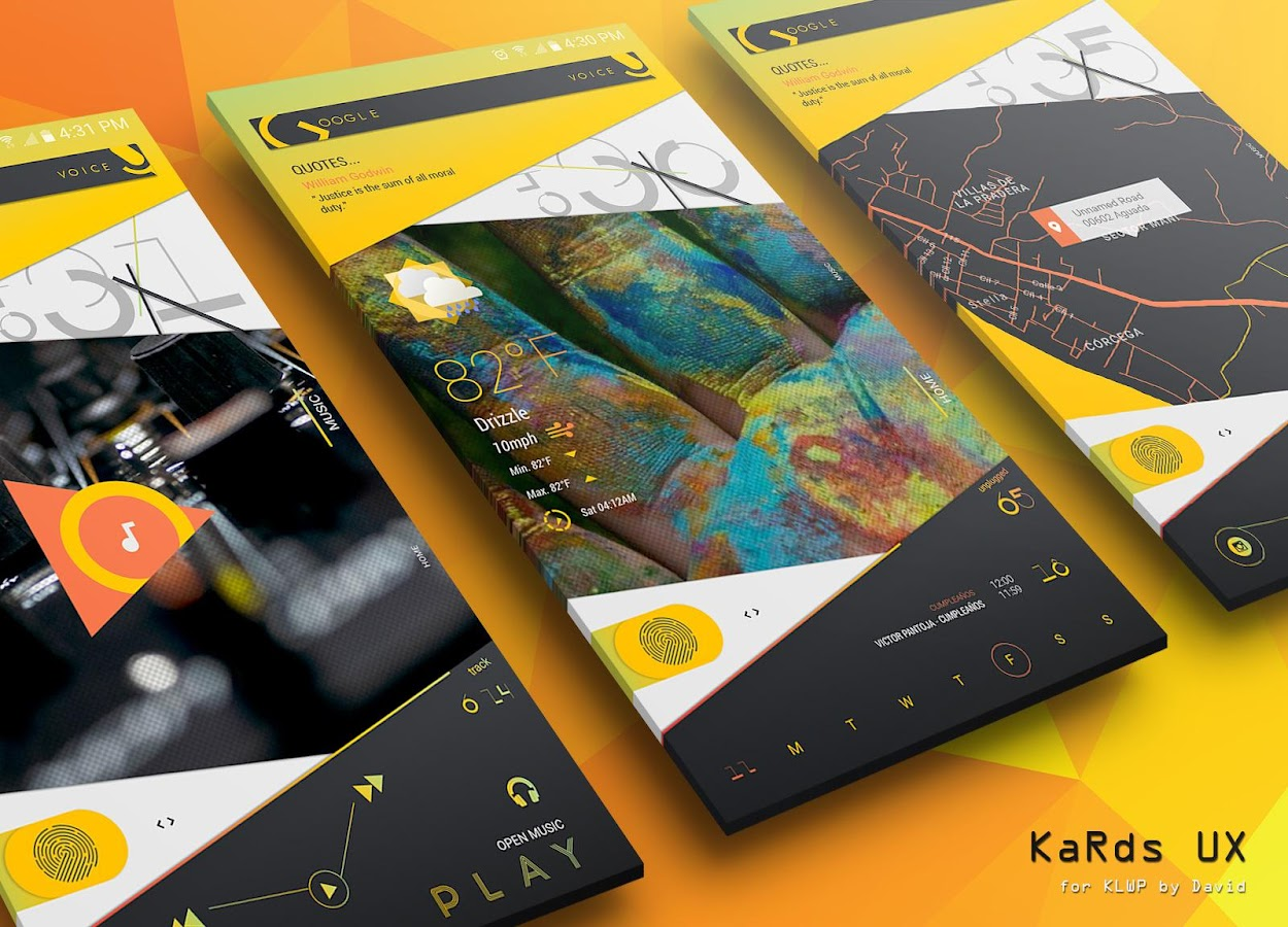 KaRds UX for KLWP Screenshot