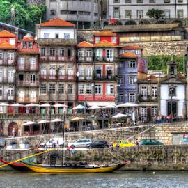 Ribeira. Porto, Portugal by Carlos Pereira - City,  Street & Park  Vistas